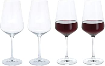 Dartington Crystal Set of 4 Red wine Glasses 15.8fl - Gift Boxed