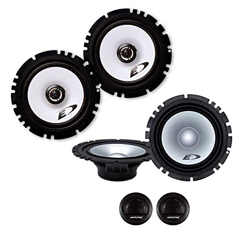 Alpine Front/Heck 16,5cm/165mm Auto Lautsprecher/Boxen/Speaker Komplett-Set kompatibel für OPEL