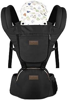 LaNova 抱っこ紐 赤ちゃんの姿勢とママの負担を軽減させるために作られた新しい抱っこひも (つかれにくい腰ベルトタイプ) (通年 ブラック)