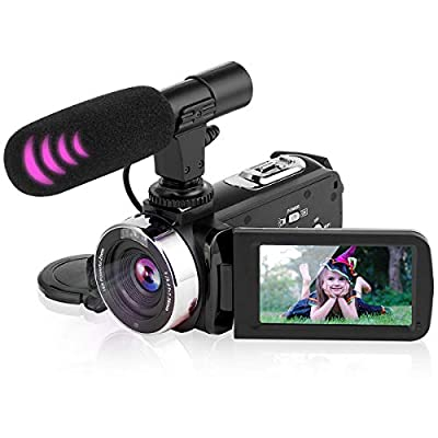 """Video Camera Camcorder Digital Vlogging Camera Video Recorder for YouTube with Microphone 3.0"""" 270° Rotation Screen 2.7K 30FPS UHD from"""