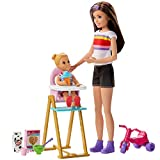 Barbie- Skipper Babysitters Bambola Che dà la Pappa Giocattolo per Bambini 3+ Anni, GHV87