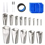 21pcs Caulk Nozzle Tool Set with Silicone Sealant Applicator Scraper Tape for Window