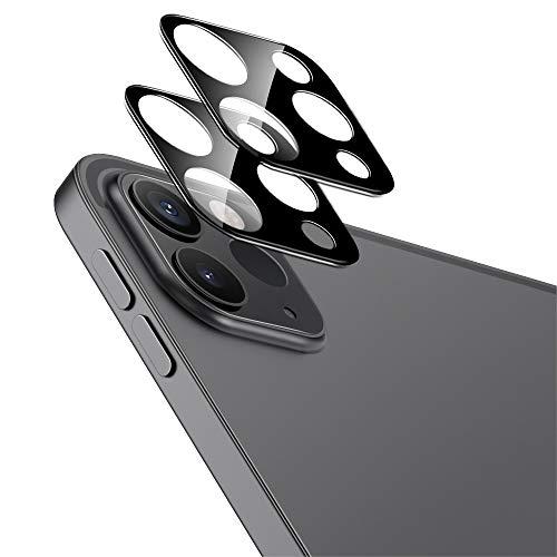 ESR 2 Stück Kamera Schutzfolien kompatibel mit iPad Pro 11/12,9 Zoll 2021/2020, 9H gehärteter Schutz, Kratzresistent, HD Klarheit, 3D Vollabdeckung Kameralinsen - Schwarz
