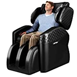 Lernonl Massage Chairs with Hip Vibration Massage Chairs Full Body and Recliner with Airbags Shiatsu Zero Gravity Massage Chairs (Black)