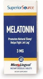 [launch] Superior Source Melatonin 3mg With Chamomile Instant Dissolve Tablets - Non Addictive Sleep Aid - Sublingual Mela...