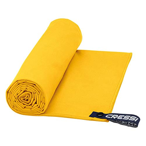 Cressi Microfibre Fast Drying Toalla de Sport, Unisex Adulto, Amarillo, 60x120cm