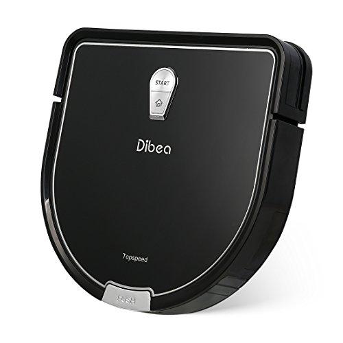 Dibea D960 Robot Aspirapolvere Lavapavimenti Serbatoio d'Acqua Incorporato per e Potente ed Autonomo per Polvere, Briciole, Filtro HEPA per Pelo Animale e Allergeni, Nero