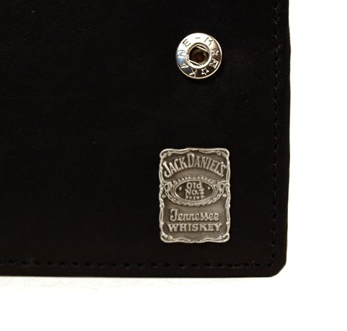 Jack Daniels Leather Wallet with Square Pewter Badge