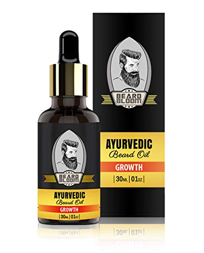 Beard Bloom Ayurvedic Beard Growth Oil | Stimulates Growth | Paraben Free & SLS Free | 30 ml
