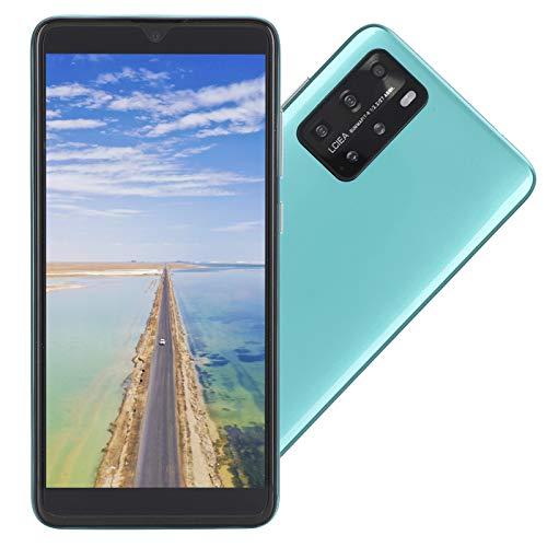 CUYT Teléfono Inteligente Desbloqueado P48 Pro, 5.8in 512MB+4GB Pantalla de Gota de Agua Tarjeta Dual MP3/WIFI/3GP/FM/Bluetooth Teléfono Celular Android Huella Digital Identificación Facial(Verde)