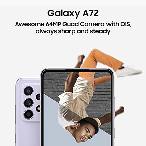 Samsung Galaxy A72 (Black, 8GB RAM, 128GB Storage) with No Cost EMI/Additional Exchange Offers