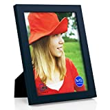 RPJC 8x10 inch Picture Frame Made of Solid Wood High Definition Glass for Table Top Display and Wall Mounting Photo Frame Jazz Blue