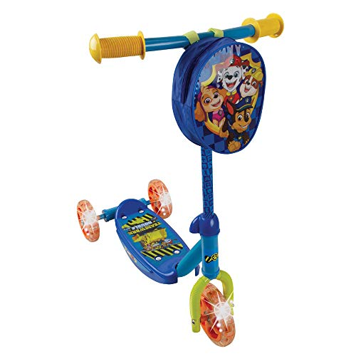 PlayWheels Paw Patrol 3-Wheel Scooter w/Light Up Wheels, Chase