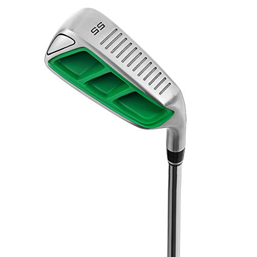 MAZEL Golf Pitching & Chipper Wedge,Right Handed,35,45,55 Degree Available for Men & Women (Right, Stainless Steel (Green Head), S, 55)