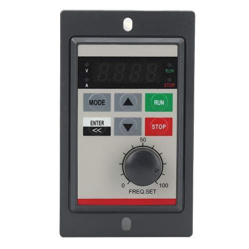 220V 0.2KW Mini VFD Frequenzumrichter,PAM-Regelung Einphasig Mikro Frequenzumrichter Mini VFD Inverter Vektorregelung VFD Drehzahlregler