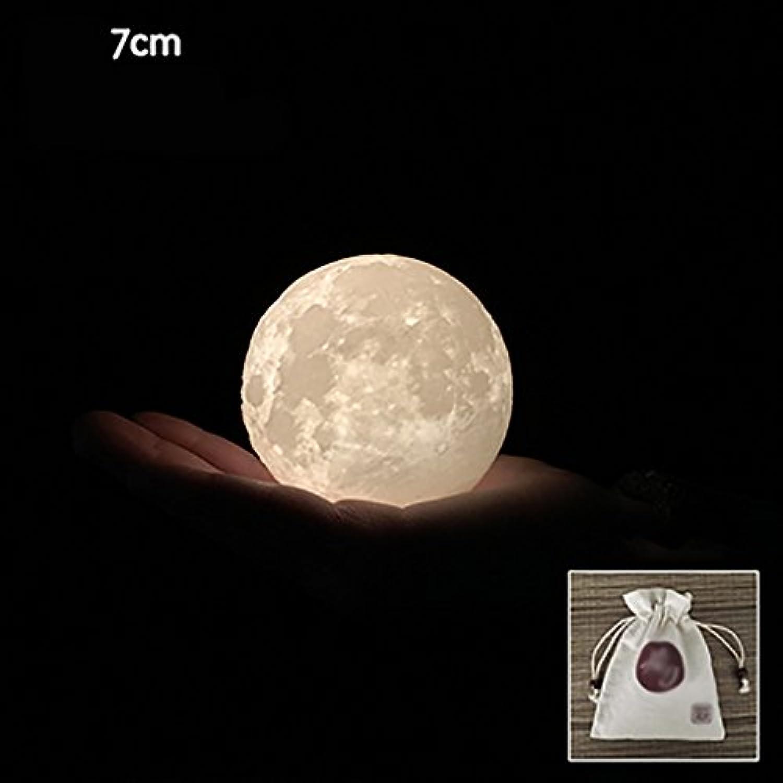 Schlafzimmer Tischlampe Wiederaufladbare 3D-Druck Mond Lampe Touch-Schalter Nachtlicht Farbe und Helligkeit einstellbar mit Holzhalterung (2,76  8,66 Zoll) LED-Lampe ( gre   2.76IN 7cm )