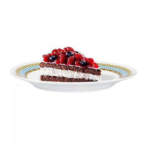 Van Well Dessertteller Bavaria | Ø 200 mm | bayrische Geschirr-Kollektion | Kleiner Frühstücksteller | Kuchenteller | Bayern | Porzellan-Teller mit Wappen