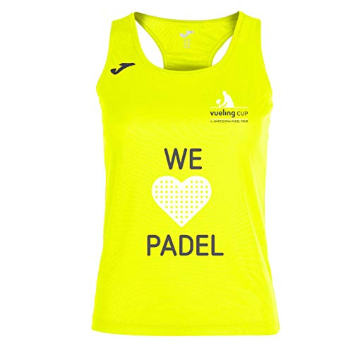 Camiseta de Tirantes Joma Vueling Cup Mujer Amarillo Fluor XL