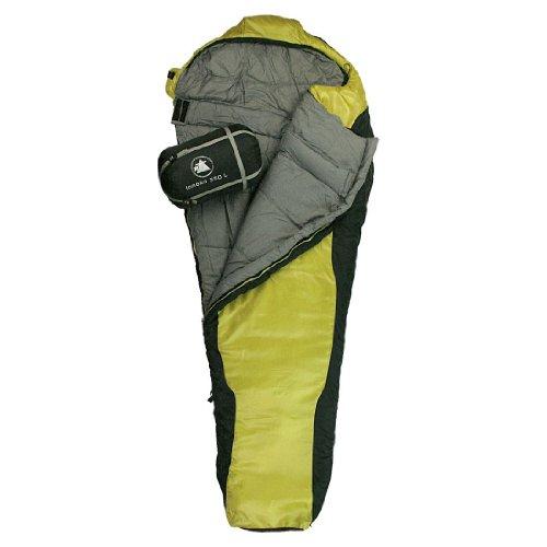 10T Schlafsack Innoko L -21° warm weich 2200g Mumienschlafsack 215x85 Gelb / Schwarz 350g/m²