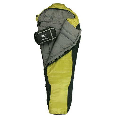 10T Outdoor Equipment 764719 - Sacco a Pelo Innoko 350, 215 x 85 x 55 cm, Colore: Giallo