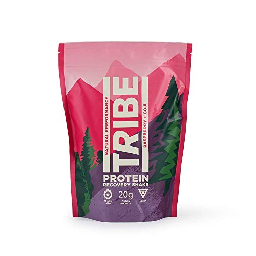 TRIBE Vegan Protein Powder - Raspberry + Goji Berry - Vegan, Gluten & Dairy Free (500g / 12 Servings)