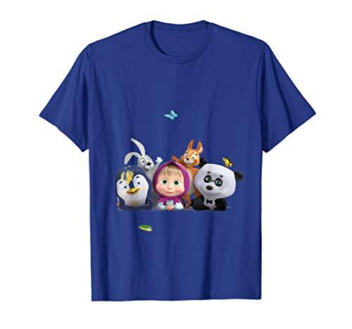 Mascha und der Bär Mascha mit Waldfreunden T-shirt