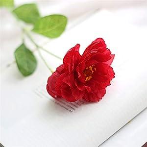 TRRT Fake Plants Artificial Silk Poppy, Bride Hand Holding Flower, Wedding DIY Home Holiday Decoration Fake Flower (Color : Rose red)