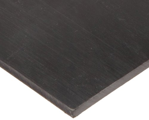 UHMW (Ultra High Molecular Weight Polyethylene) Sheet, Opaque Black, Standard Tolerance, 1/8' Thickness, 12' Width, 12' Length