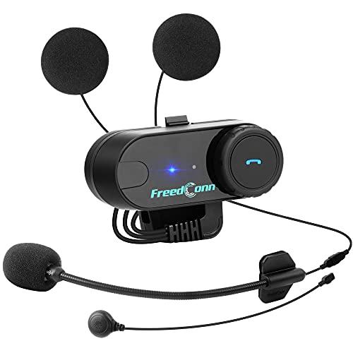 TCOM-VB - Auriculares Bluetooth para motocicleta, 800 m, 2 vías, interfono, impermeable, sistema de comunicación para casco 3/4 y casco de cara completa