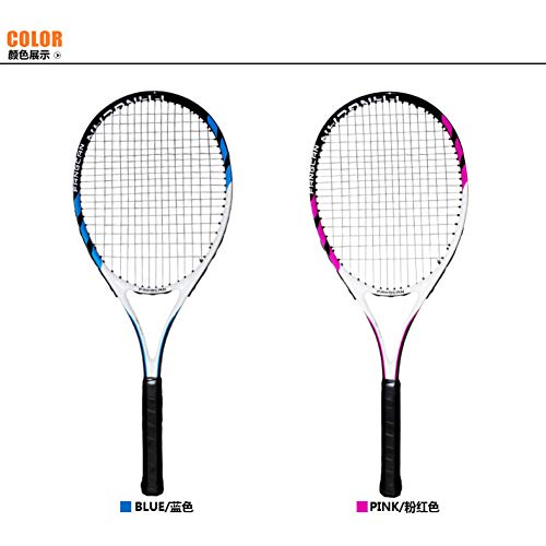 MLPNJ 50-55 LBS Raquetas de Tenis de Fibra de Carbono con Bolsa Raqueta Padel Racket String 4 1/4-4 3/8 Squash Tennisracket Racchetta Tennis