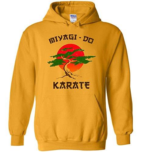 JXZO Herrenpullover Miyagi-Do Karate Kid - Retro 80's Vintage Style Unisex Pullover Hoodie Men/Women