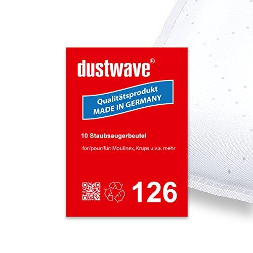 Sparpack - 10 Staubsaugerbeutel geeignet für Moulinex - A 83... Compact de Luxe Bodenstaubsauger - dustwave® Premiumqualität - Made in Germany