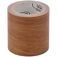 Jenor - Cinta adhesiva de reparación de muebles con diseño realista de grano de madera, 5 m, 8 colores