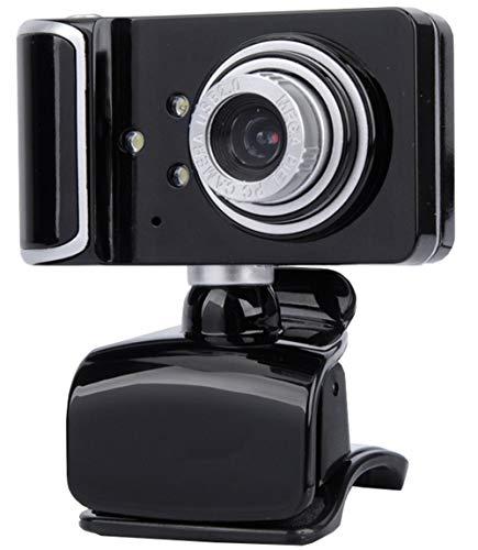 KCatsy Webcam, 8 MP HD Webkamera für Skype, mit integriertem Mikrofon, USB, Plug and Play, Videokamera, Breitbild-Video schwarz schwarz/silberfarben 480P