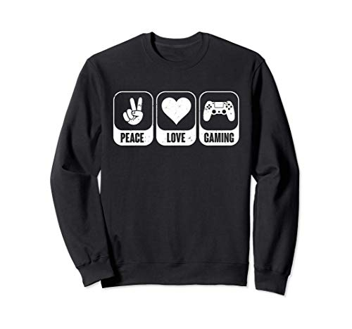 Peace Love Gaming Peace Video Console Gamers Sudadera
