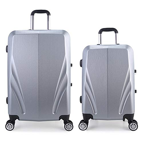 Suitcase Lightweight Suit With Lock Hard Shell Pilot Travel Luggage Trolley Suitcase Carry Column Vertical Silent Rotator Multi-directional Aircraft Boarding Travel Luggage Case