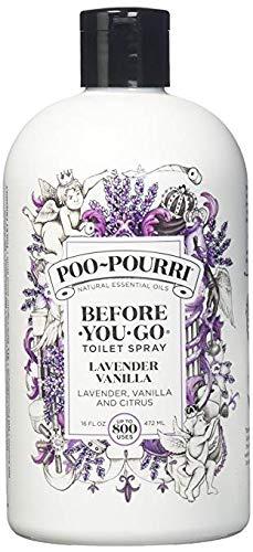Poo-Pourri Lavender Vanilla 16-Ounce Refill Bottle,
