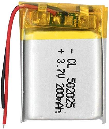 Batería Recargable de polímero LI-Polímero 3.7 v 200 MAH 502025 para Reloj Inteligente PSP Lámparas LED Lámparas Bluetooth Altavoces Mini 2 Piezas-4 Habitaciones-1 Pieza