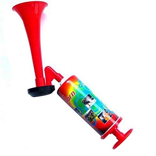 Winomo Corne de brume à pompe manuelle, avertisseur sonore puissant pour stade, fête, événements sportifs (Rouge)