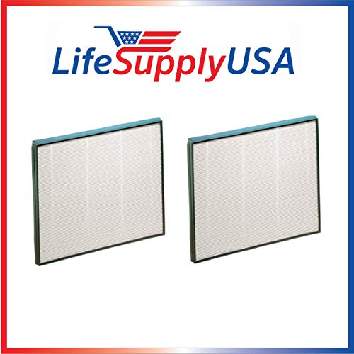 LifeSupplyUSA 2 Pack Replacement Filter Compatible with Hunter 30940 30210 30214 30215 30216 30225 30260 30398 30400 30401