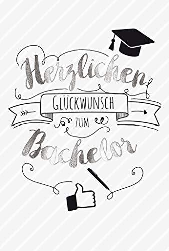 Karte zum Bachelor, Karte Bachelor Abschluss, DIN A 6, Karte inkl. Umschlag, Motiv: Glückwunsch