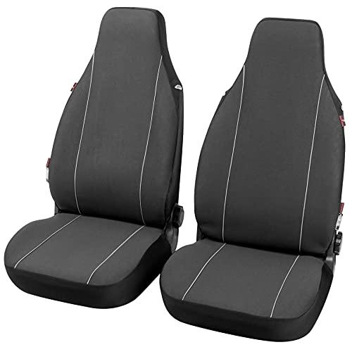 Walser Autositzbezüge Modulo Highback für beide Vordersitze schwarz universal passende Schonbezüge Set 13558
