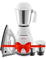 Lifelong PowerPro 500 Watt 3 Jar Mixer Grinder and 1100 Watt Dry Iron Super Combo