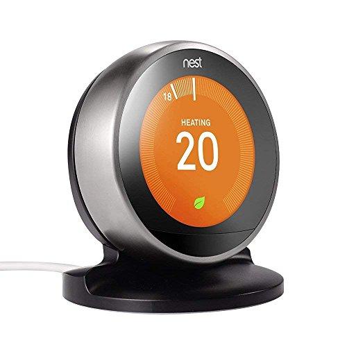 Soporte/Soporte EEEKit para Nest Learning Thermostat, 3ra / 2da generación (Negro)