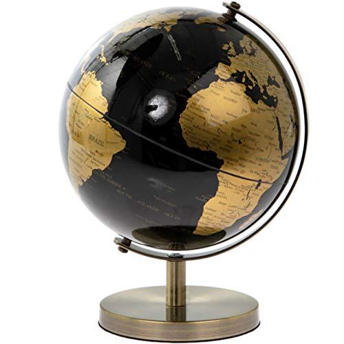 Lesser & Pavey Goldener rotierender Weltkugel, 19 cm, goldfarben/schwarz