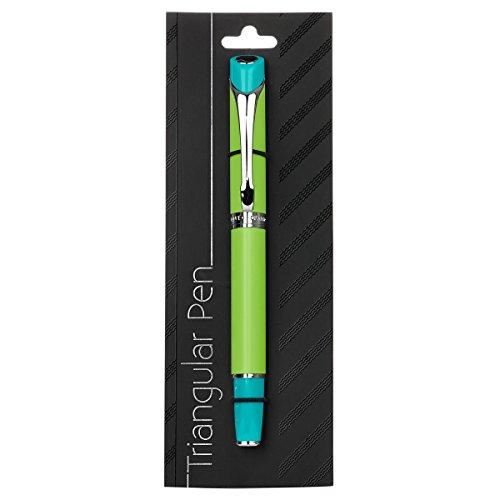 """Triangular""""Faith - Hope - Love"""" Writing Pen (Green/Blue) Photo #4"""