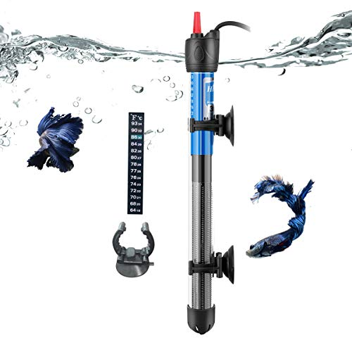 Hitop 50W 100W 300W Submersible Adjustable Aquarium Heater for 5 – 50 Gallon Fish Tank 300W for 20~50gallon