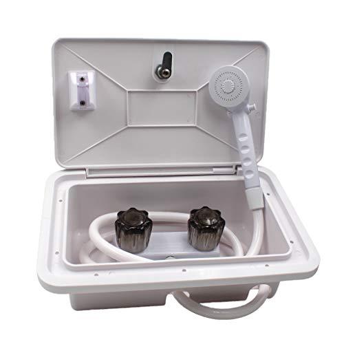 IPOTCH 1 Satz Außenduschbox Duschtür verriegeln für Boote Marine Transom Duschen RV Wohnmobil Anhänger und Kabinen