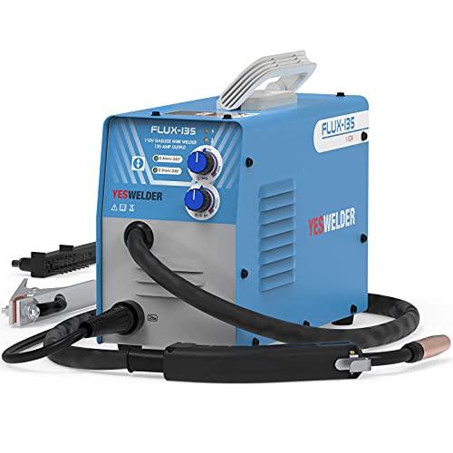 YESWELDER FLUX-135 Flux Core MIG Welder,135A Gasless IGBT Inverter Welding Machine 110V (Renewed)