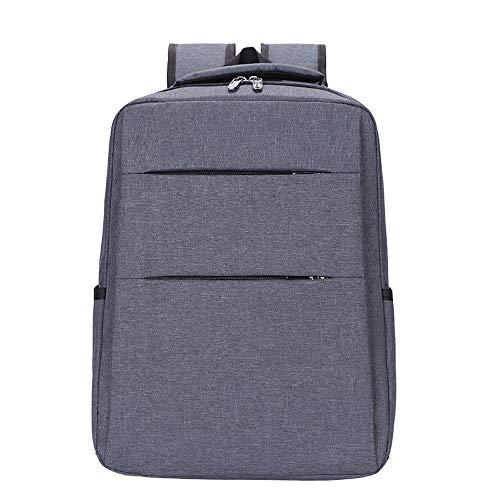 HEMFV バックパックのショルダーバッグメッセンジャーバッグラップトップケースビジネスブリーフケースレジャーバッグ多機能トラベルリュックサックは、男性/女性のために14インチのノートパソコンに適合します (Color : Gray)